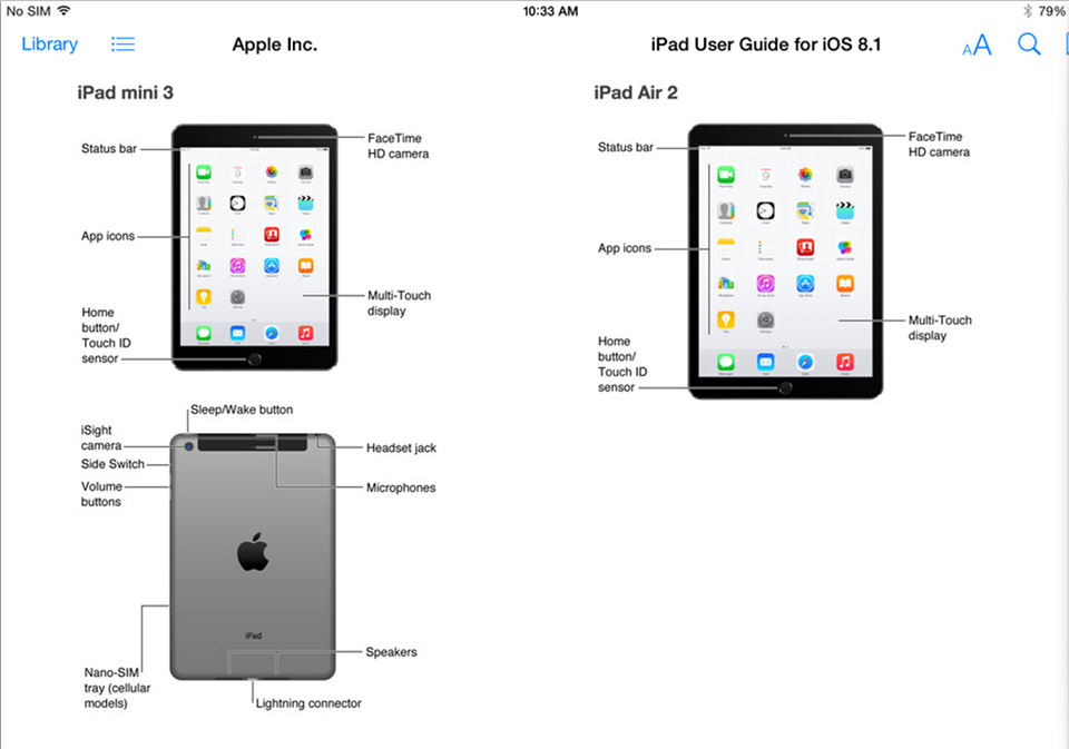 iPadAir2 iPadMini3